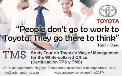 Study Tour on Toyota's Way of Management for the White-collared Office